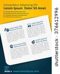 vector brochure  flyer ... | Shutterstock .eps vector #376612996