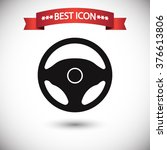 steering wheel icon vector | Shutterstock .eps vector #376613806