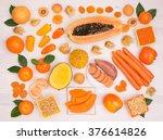 Orange Fruit And Vegetables...