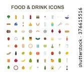 food   drink icon set. vector... | Shutterstock .eps vector #376615516
