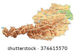 high detailed austria physical... | Shutterstock .eps vector #376615570