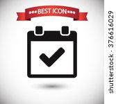 calendar icon vector | Shutterstock .eps vector #376616029