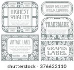 vector vintage style labels... | Shutterstock .eps vector #376622110