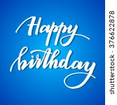happy birthday   hand lettering ...   Shutterstock .eps vector #376622878