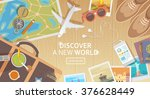 flat vector web banner on the... | Shutterstock .eps vector #376628449