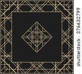 vector geometric frame in art... | Shutterstock .eps vector #376632799