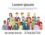 group of business people face... | Shutterstock .eps vector #376636720