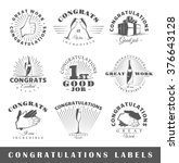 set of congratulations labels.... | Shutterstock .eps vector #376643128