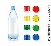vector blank plastic blue water ... | Shutterstock .eps vector #376643344