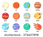 Planets Colorful Vector Set On...
