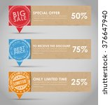 set of banners with a quote... | Shutterstock .eps vector #376647940