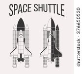 Space Exploration Space Shuttle And Planet In Black And White.. Royalty  Free Cliparts, Vectors, And Stock Illustration. Image 130082546.