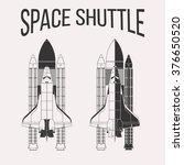 american space shuttle design... | Shutterstock .eps vector #376650520
