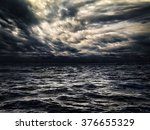 dark stormy sea with a dramatic ...   Shutterstock . vector #376655329