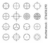 set of different flat crosshair ... | Shutterstock .eps vector #376656190