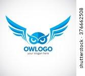 business corporate owl logo...   Shutterstock .eps vector #376662508