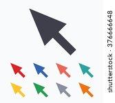 mouse cursor sign icon. pointer ... | Shutterstock . vector #376666648
