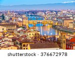 sunset view of ponte vecchio ... | Shutterstock . vector #376672978