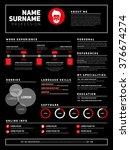 minimalist cv  resume template... | Shutterstock .eps vector #376674274