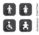 wc toilet icons. human male or... | Shutterstock . vector #376677544