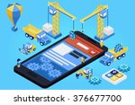 mobile app development ... | Shutterstock .eps vector #376677700