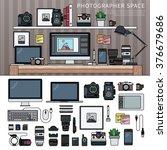 photographer office. work space ...   Shutterstock .eps vector #376679686
