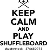 keep calm and play shuffleboard | Shutterstock .eps vector #376680793