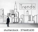 trends trend trending trendy... | Shutterstock . vector #376681630