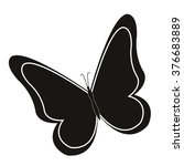 butterfly icon | Shutterstock .eps vector #376683889