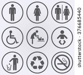 people icon set . toilet icons .... | Shutterstock .eps vector #376685440