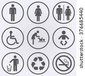 People Icon Set . Toilet Icons...