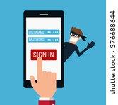 thief. hacker stealing... | Shutterstock .eps vector #376688644