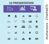 presentation icons | Shutterstock .eps vector #376696870
