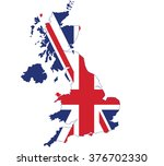 flag map of united kingdom | Shutterstock .eps vector #376702330