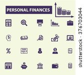 personal finance icons  | Shutterstock .eps vector #376703044