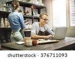 small business connection... | Shutterstock . vector #376711093