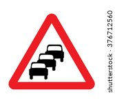 uk queues likely ahead sign | Shutterstock .eps vector #376712560