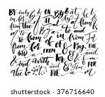 collection of hand drawn... | Shutterstock .eps vector #376716640