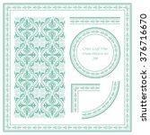 vintage frame pattern set 200... | Shutterstock .eps vector #376716670