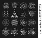 sacred geometry vector design... | Shutterstock .eps vector #376717099