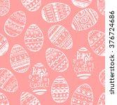 seamless vector easter pink... | Shutterstock .eps vector #376724686