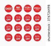 red retail and shopping sale... | Shutterstock .eps vector #376726498