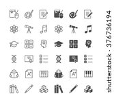 education icons  included...   Shutterstock .eps vector #376736194