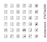 document icons  included normal ... | Shutterstock .eps vector #376736200