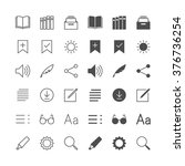 e book reader icons  included... | Shutterstock .eps vector #376736254