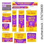 standard size web banners set.... | Shutterstock .eps vector #376736830