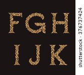 decorative initial f  g  h  i ... | Shutterstock .eps vector #376737424