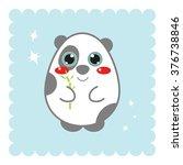 kawaii anime china panda bear...   Shutterstock .eps vector #376738846