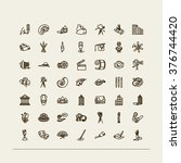 set of icons   arts. a painting ... | Shutterstock .eps vector #376744420