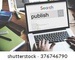 publish produce journalism... | Shutterstock . vector #376746790